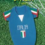 maglia italia per cani